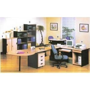 Global Beech & Grey Exclusive - Set Kantor 5